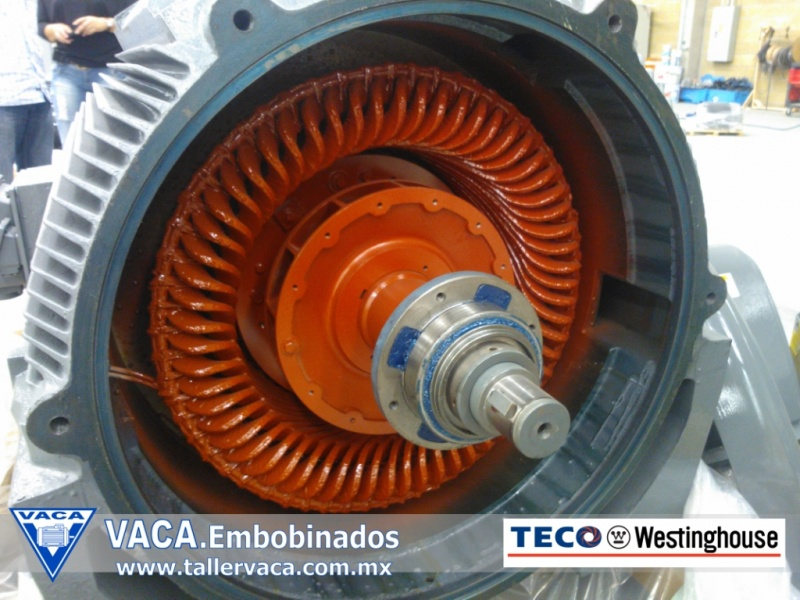 motor de media tension de 450 hp. TECO Westinghouse_embobinados vaca